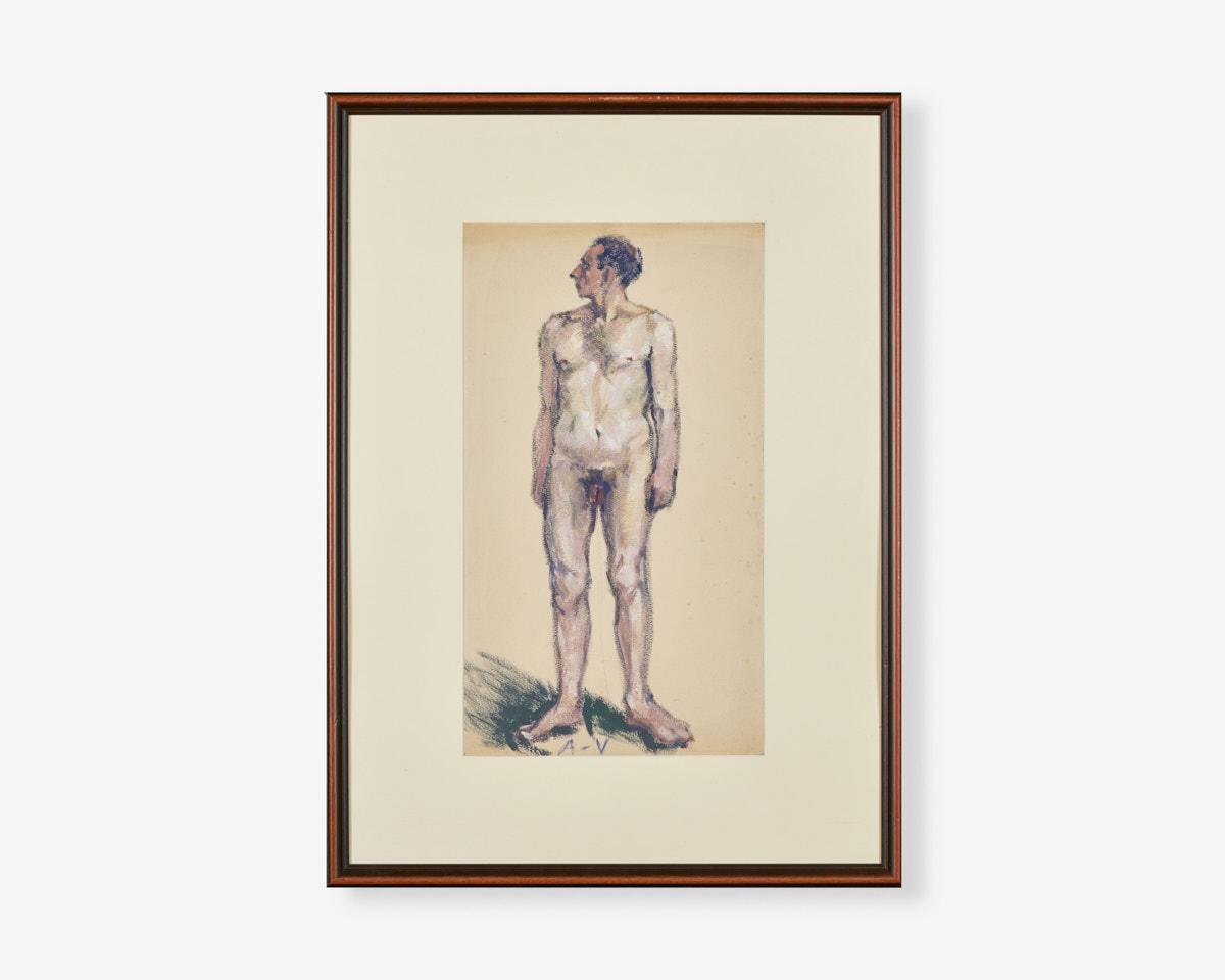 Albano-vitturi_TEMPERA-su-carta_nudo_30X50_1920