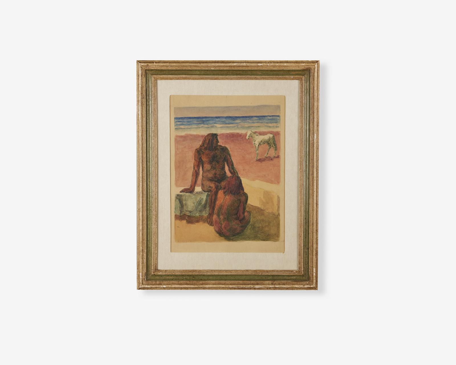 Albano-vitturi_acquarello-su-carta_anni-20_26x36_cavallo-bianco