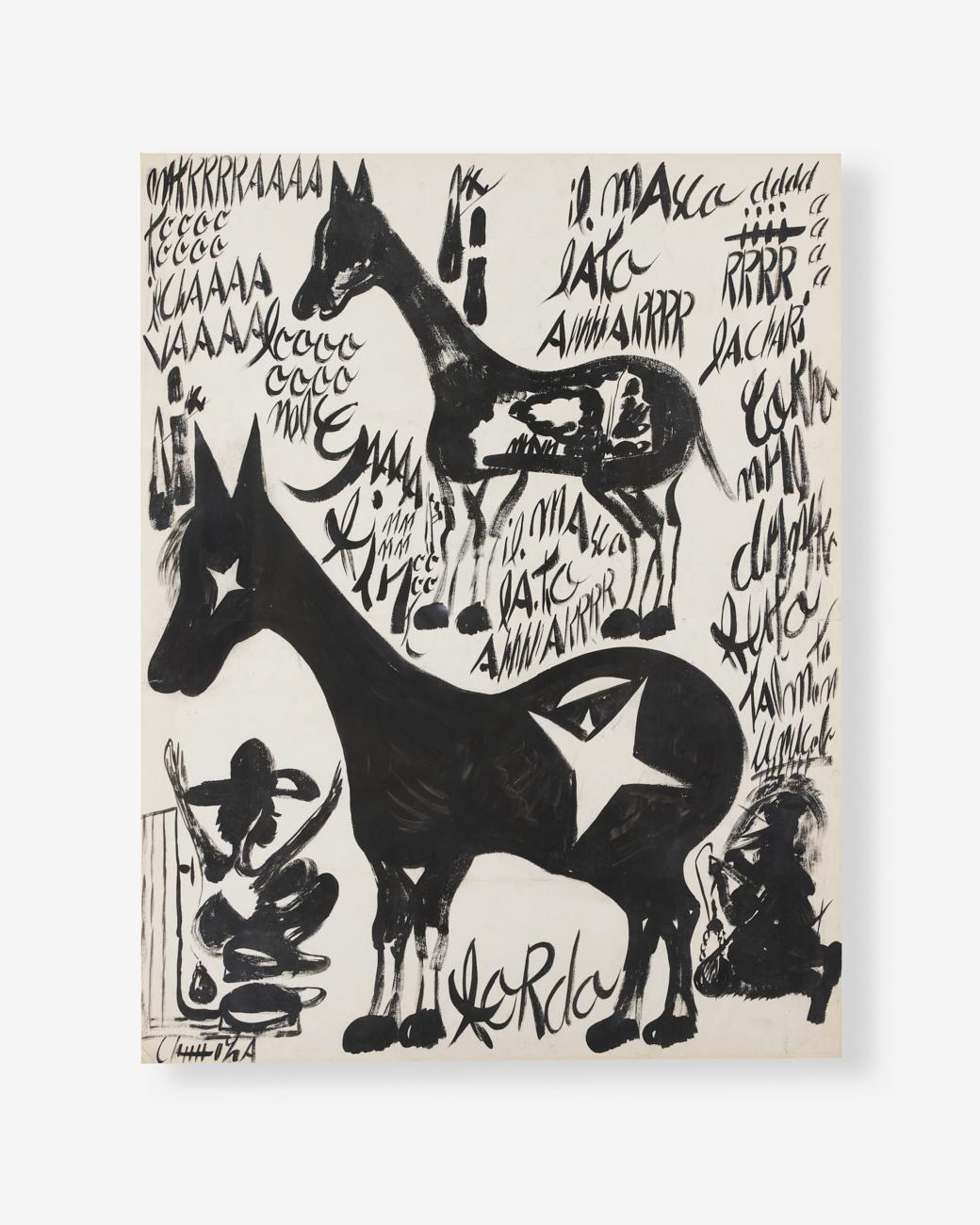 Carlo-Zinelli_Grande-cavallo-stellato_retro-cavallo-e-figure-con-scritte_tempera-su-carta_71x55_1926-2-1