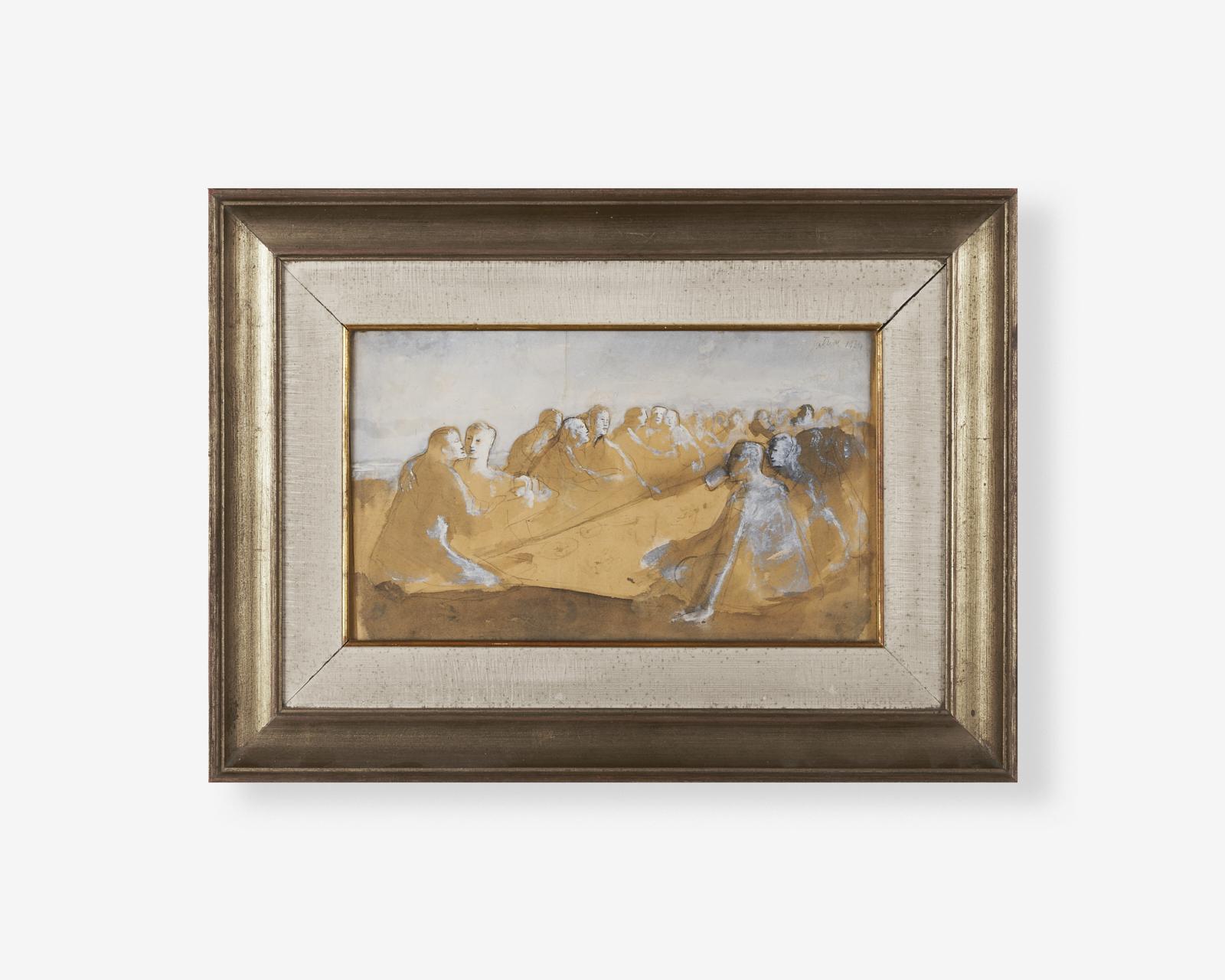 Franco-Gentilini_tempera-su-carta_1934_18x31_banchetto_no-veronese