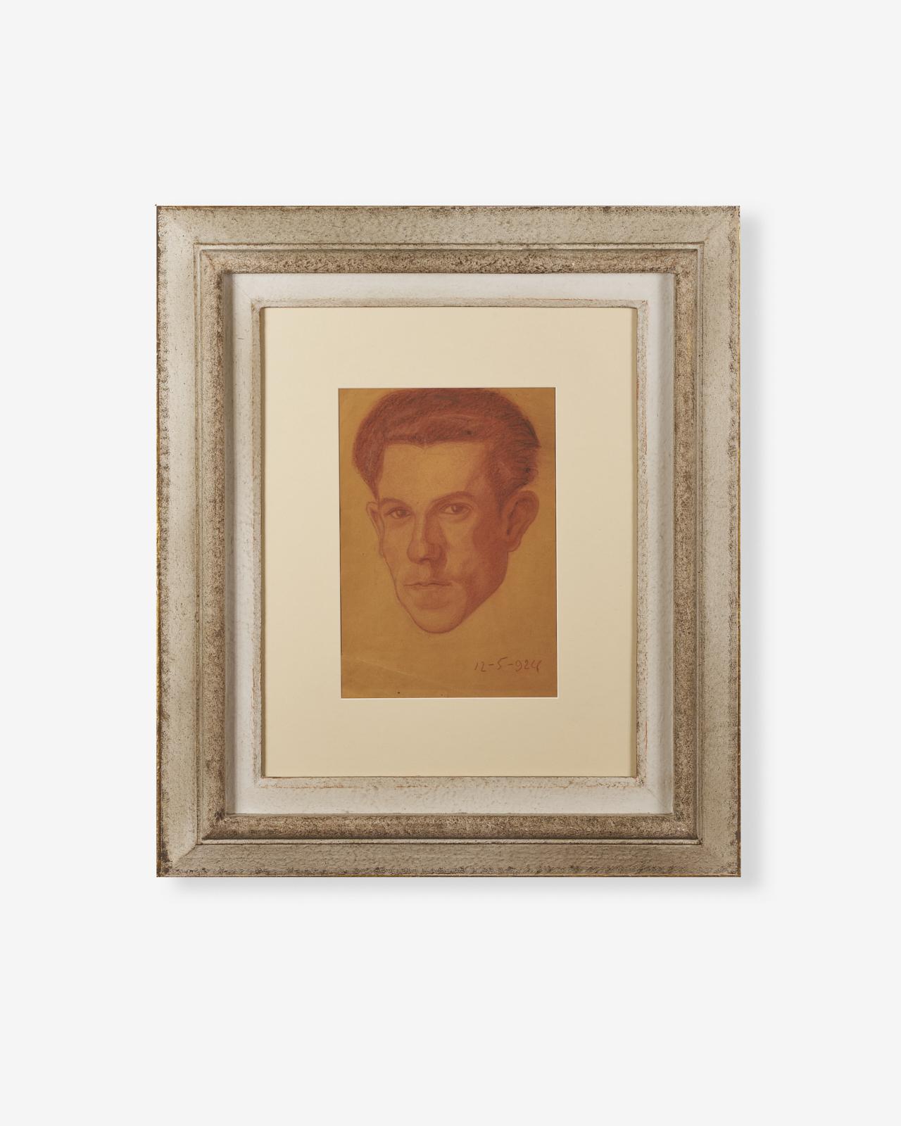 Guido-Farina_Autoritratto_Sanguigna-su-carta_22x32-1924