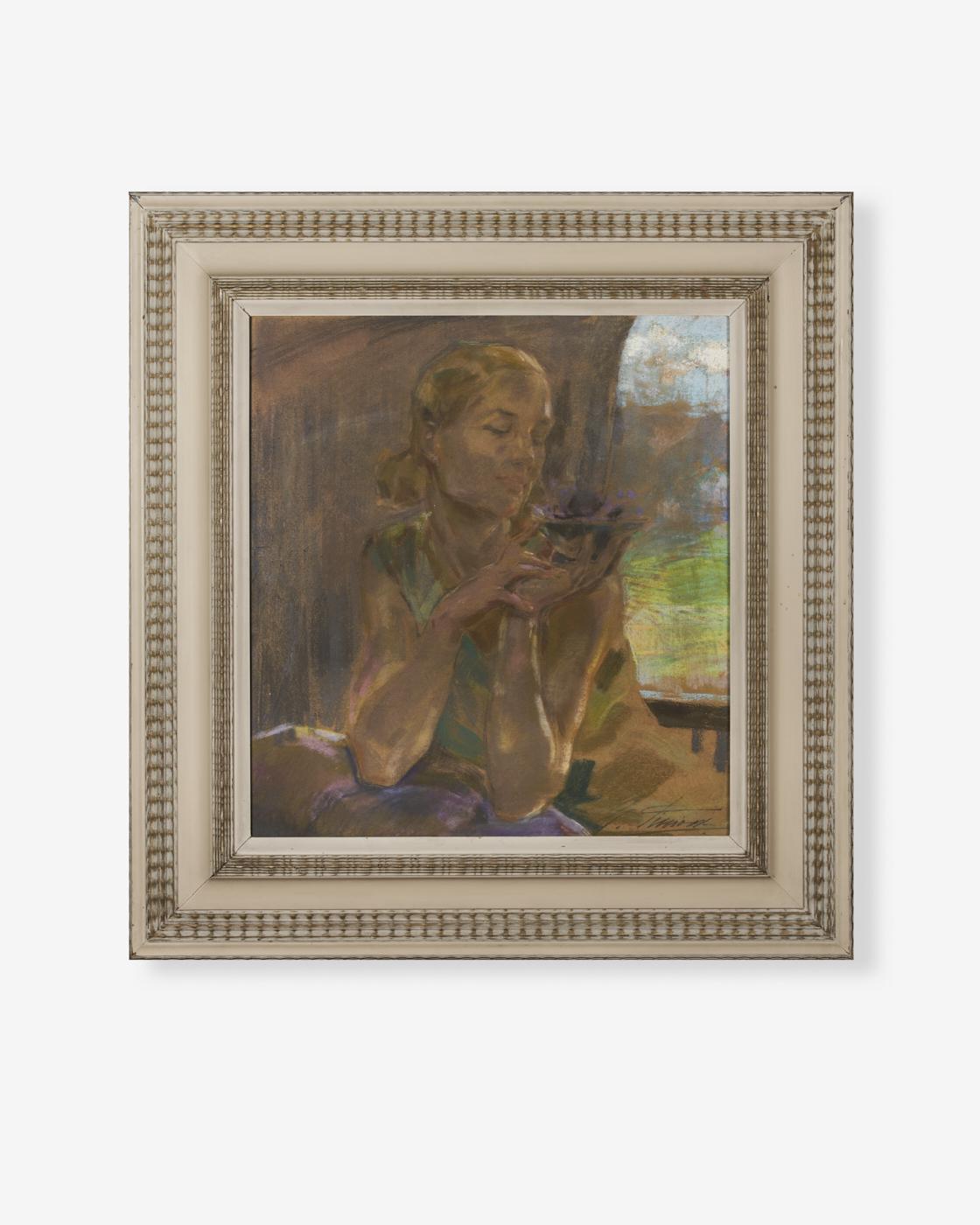 non-veronese_Gino-Piccioni_pastelli-su-cartoncino_60x65-cm-figura-femminile_anni-30